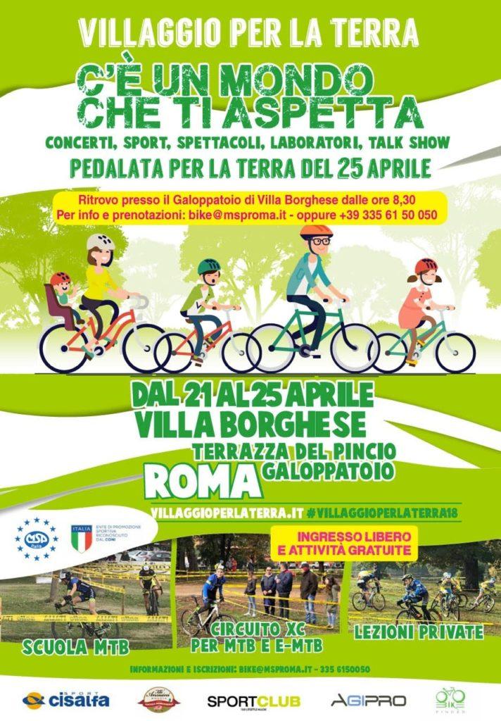 MSP Roma, il 25 aprile la Pedalata per la Terra a Villa Borghese ...